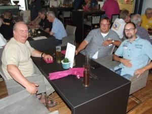 Uwe, DL3BQA, Paul, DL5CW, & Mel, DL6CT, at BCC dinner